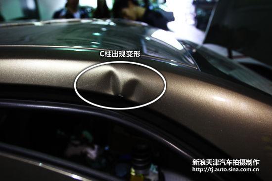 宝骏630 可变形移动壁障侧面碰撞试验解析(2)