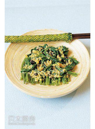 蒜香豉油空心菜(图片来源:贝太厨房)