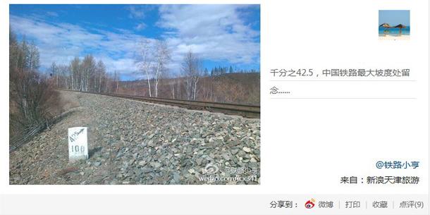 中国铁路最大坡度留念