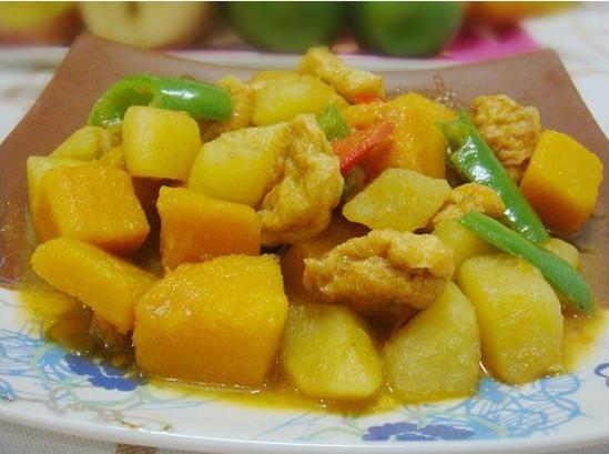 咖喱南瓜土豆。图片来源:互联网