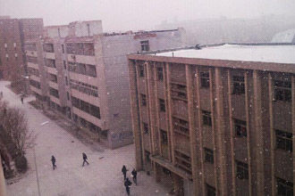 网友实拍新年初雪