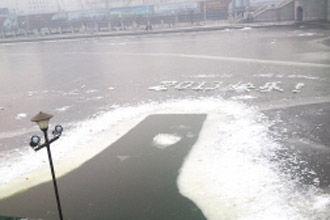 海河冰面冰雕抢眼