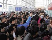 天津机场滞留旅客