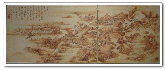 描绘水西庄的《秋庄夜雨读书图》