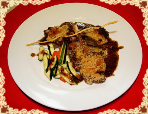 起士林特色菜:法式羊排香草汁。图片来源:互联网