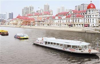 图为海河游船正式开航 记者 高山 摄