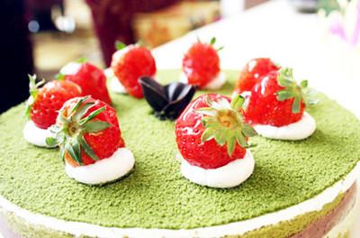 抹茶蛋糕。图片来源:互联网