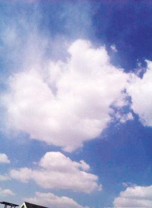 图为:有爱的心形云. 来源:城市快报图片