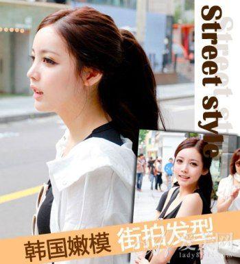 韩国嫩模演绎女生发型