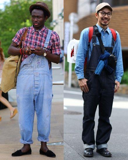 不当农场主 摩登工装背带裤穿搭法则(图);