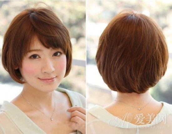 发量少短发圆脸发型图片 短美