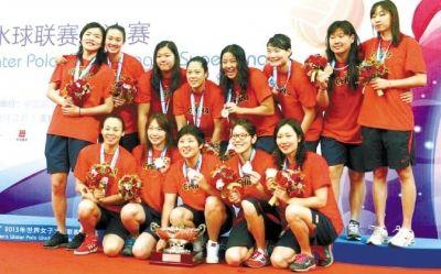 二排第六位——中国女水队长孙雅婷