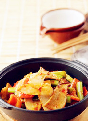 干锅杏鲍菇。图片来源:互联网