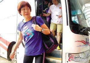 郎平带领女排参加大奖赛武汉站比赛