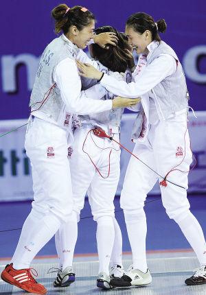 天津女佩获得团体冠军