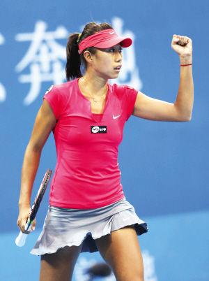 图为:中网赛场上演津花德比。 来源:天津日报