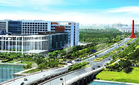 空港经济区鸟瞰图。