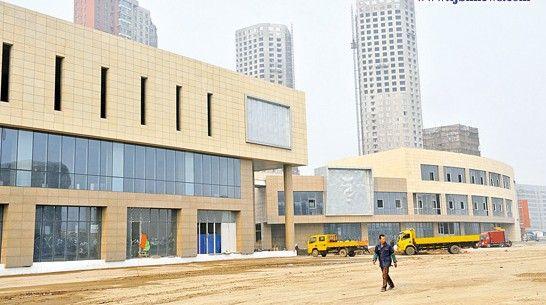 天津泰达时尚购物中心主体建设完工