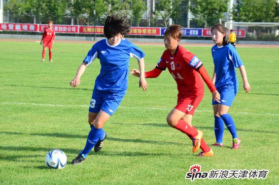 天津女足比赛中