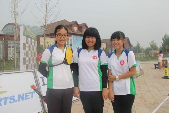 来自香港射箭总会的小选手