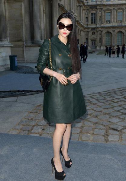 范冰冰亮相2014巴黎时装周