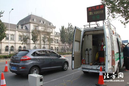 遥感检测车可以瞬间测定汽车尾气