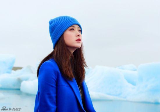 蒋欣冰岛蔚蓝写真大片纯情似水