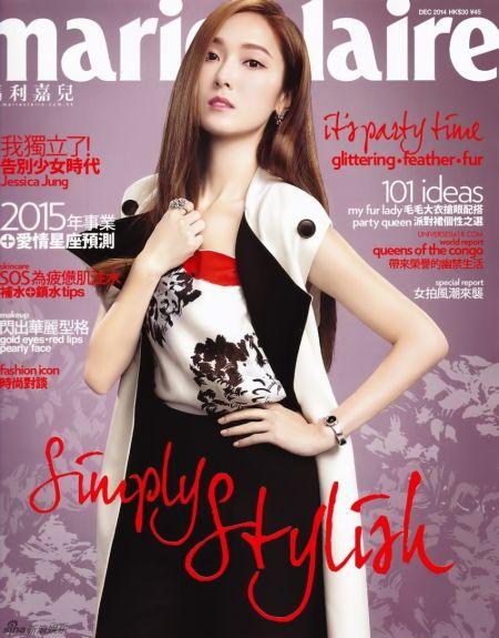 少时前成员Jessica登杂志笑容自信