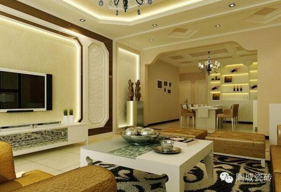 你想知道什么是真正的欧式生活吗?欧式生活通常都会选择什么样的材料来装饰呢?瓷砖作为家居必须的装饰材料,在营造各式生活空间中发挥了重要的作用。十大陶瓷品牌陶城瓷砖以实际案例为大家先介绍简约欧式风格装饰设计的相关知识。   一提到欧式装修风格,相信很多人首先能想到的就是豪华、高贵。欧式装修风格又可以分为欧式简约风格、欧式古典风格和欧式田园风格等。欧式装修风格强调以华丽的装饰、浓烈的色彩、精美的造型达到雍容华贵的装饰效果。欧式客厅顶部喜用大型灯池,并用华丽的枝形吊灯营造气氛。门窗上半部多做成圆弧形,并用带