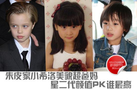 朱皮家小希洛美貌超爸妈星二代颜值PK谁最高