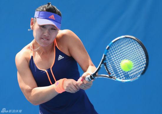 段莹莹在澳网首轮比赛中