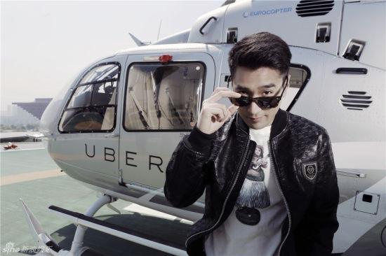 赵又廷搭直升机俯瞰上海墨镜哥酷拽