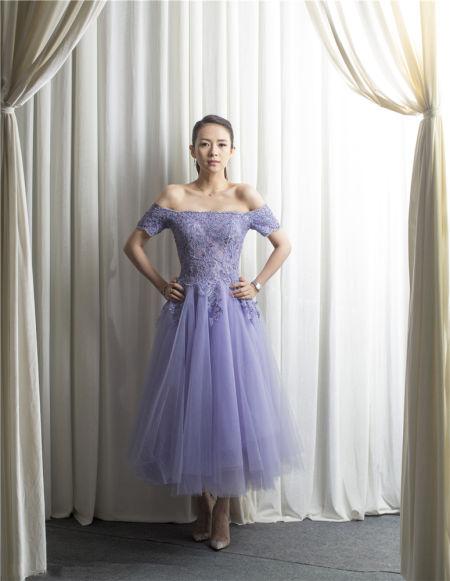 女星初夏都爱梦幻紫子怡仙气高圆圆气质