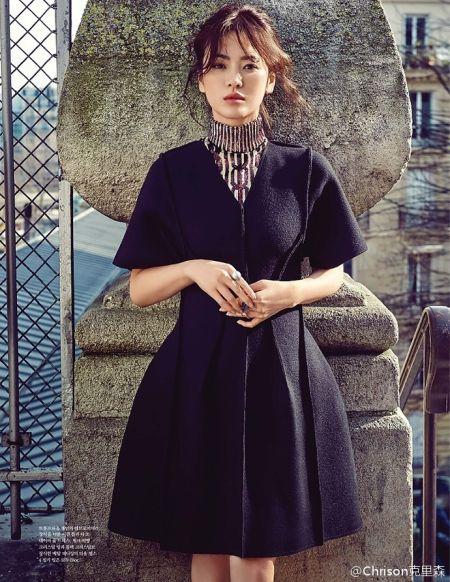宋慧乔置身巴黎街头演绎极致文艺之美