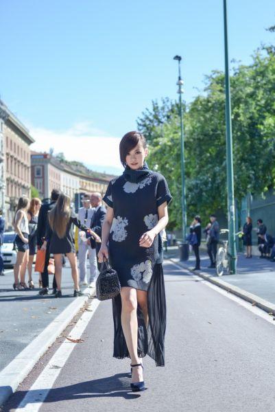陈意涵亮相米兰时装周造型百变时尚进阶