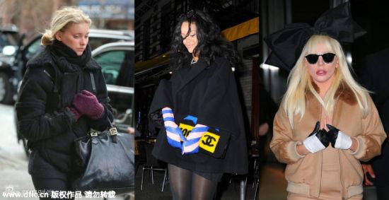 明星潮人示范手套造型冬季增添点睛一笔