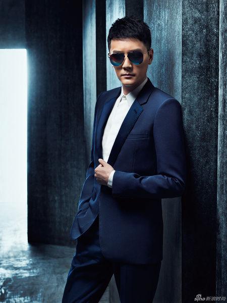 冯绍峰戴墨镜拍写真冷峻型男酷帅十足