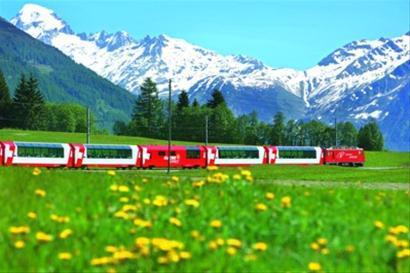 闻名世界的瑞士观光铁路列车
